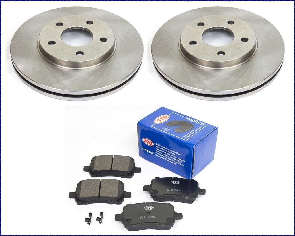 2 Bremsscheiben /& Keramik Bremsbeläge vorne Cadillac Escalade 2007-2008